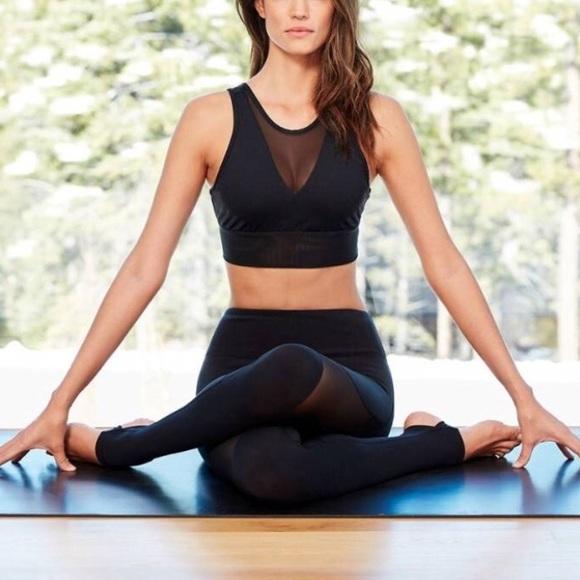 c75a85eca9150 ALO Yoga Tops - ALO Yoga Mesh Crop Bra Black